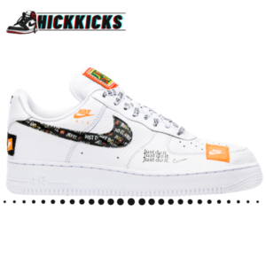 Air Force 1 White Just Do It Custom